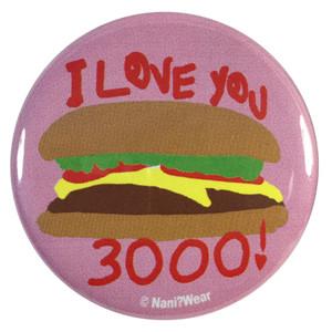 Avengers Endgame 2.25 Inch Geek Button Love You 3000