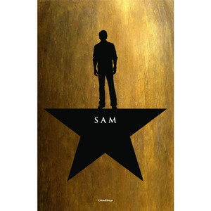 Sam Winchester Supernatural Hamilton Inspired Mash-Up Art Print