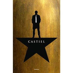 Castiel Supernatural Hamilton Inspired Mash-Up Art Print