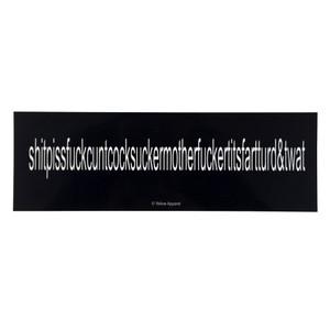 Yellow Apparel Bumper Sticker George Carlin's 7 Dirty Words