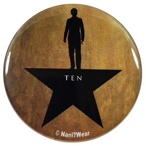 10th Doctor Who Hamilton Mash-Up 2.25 Inch Button