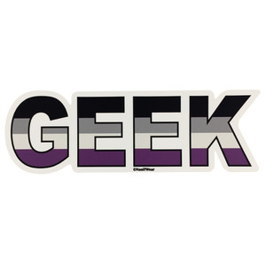 LGBTQ Asexual-Ace Geek Pride Flag Sticker