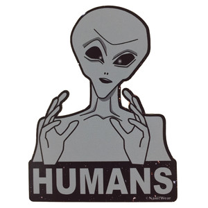 Ancient Aliens Geek Sticker Humans