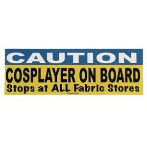 Cosplayer Bumper Sticker Caution Cosplayer On Board