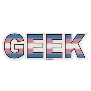 LGBTQA Transgender Geek Pride Flag Sticker