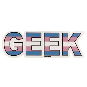 LGBTQA Transgender Geek Pride Flag Sticker
