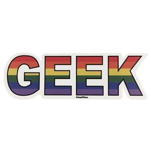 LGBTQA Gay Geek Pride Flag Sticker