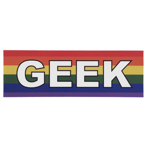 LGBTQA Gay Geek Pride Flag Bumper Sticker