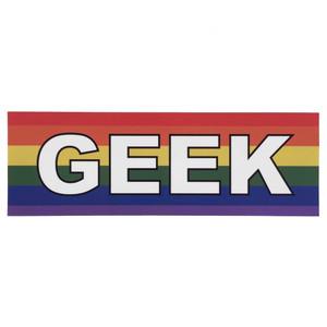 LGBTQA Gay Geek Pride Flag Bumper Sticker