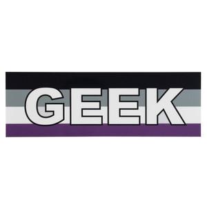 LGBTQA Asexual-Ace Geek Pride Flag Bumper Sticker