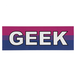 LGBTQA Bisexual Geek Pride Flag Bumper Sticker