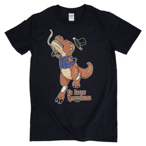 Tyrannosaurus Rex History Mash-Up Nerd Dinosaur T-Shirt Sic Semper Tyrannosaurus
