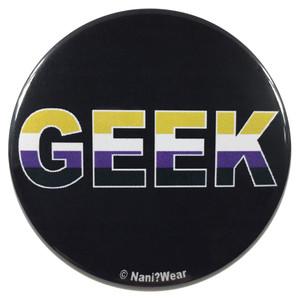 Non-Binary Geek Pride Flag 2.25 Button