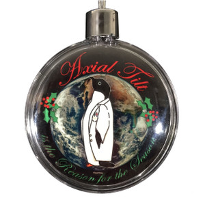 Science Penguin Christmas Ornament Axial Tilt Is the Reason for the Season