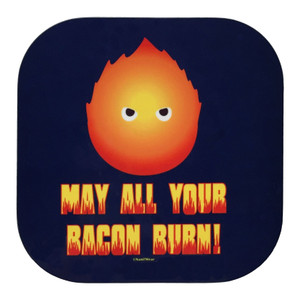 Howl's Moving Castle Inspired Geek Coaster May All Your Bacon Burn