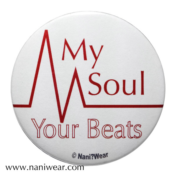Angel Beats Inspired Button: My Soul, Your Beats