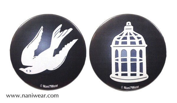 Bioshock Inspired Button Set: The Bird or the Cage