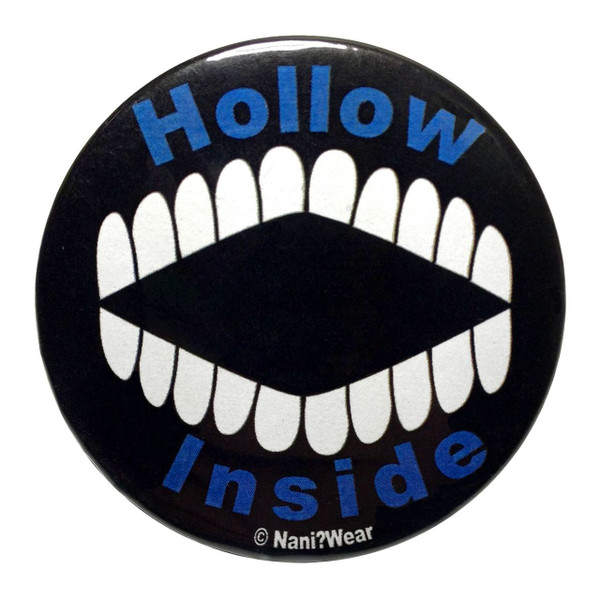 Bleach Inspired Button: Hollow Inside