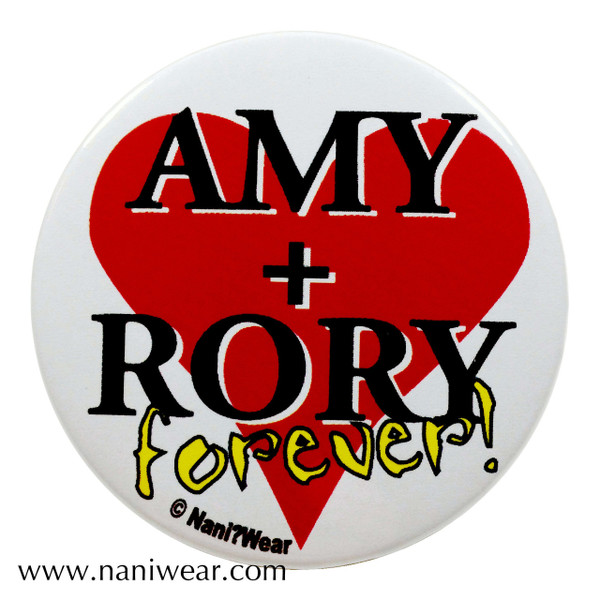 Companion Button: Amy + Rory Forever