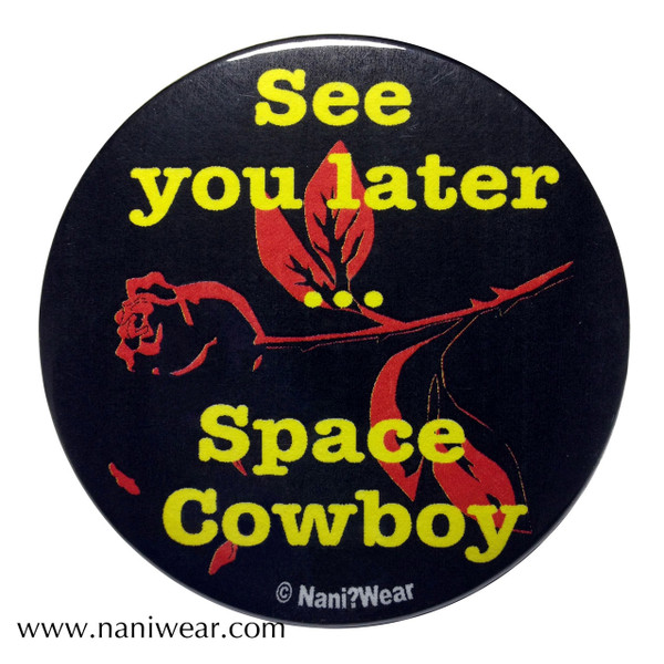 Cowboy Bebop Inspired Button: Space Cowboy