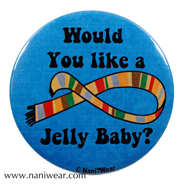 Doctor Who Inspired Button: Would You Like a Jelly Baby?