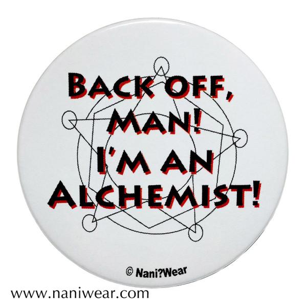 Fullmetal Alchemist Inspired Ghostbusters Parody Button Back off Man