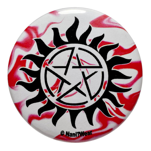 Supernatural Inspired Button: Anti-Possession Symbol