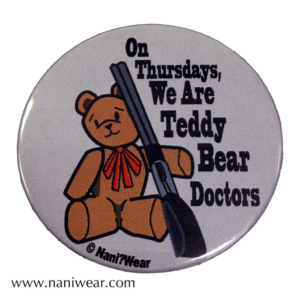Supernatural Inspired Button: Teddy Bear Doctors