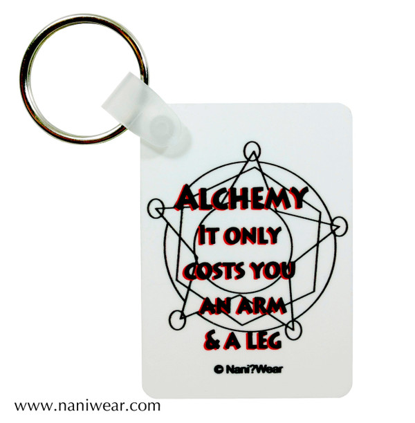 Fullmetal Alchemist Inspired Keychain: Alchemy Costs Arm & Leg