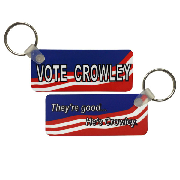 Supernatural Inspired Double-Sided Keychain: Vote Crowley