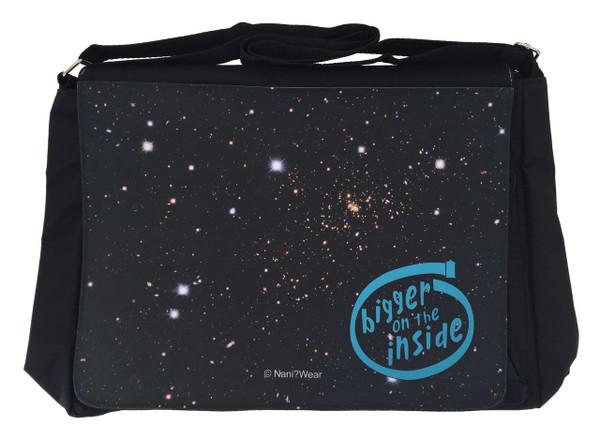 Doctor Who Inspired Large Messenger/Laptop Bag: Bigger Inside