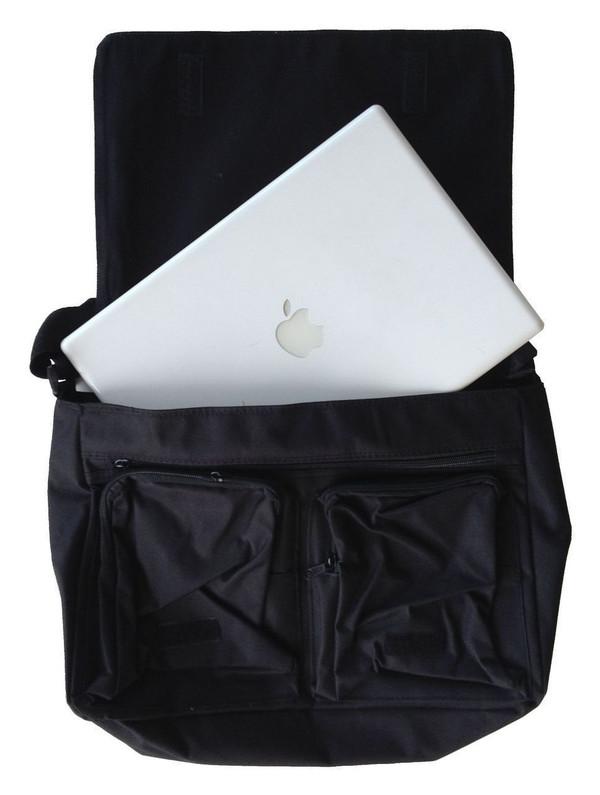 Evangelion Inspired Large Messenger/Laptop Bag: Defending Earth