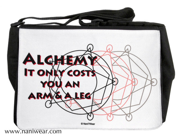 Fullmetal Alchemist Large Messenger Bag: Alchemy Costs Arm & Leg