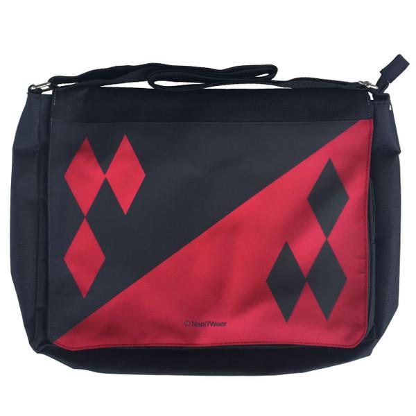 Harley Quinn Inspired Large Messenger/Laptop Bag