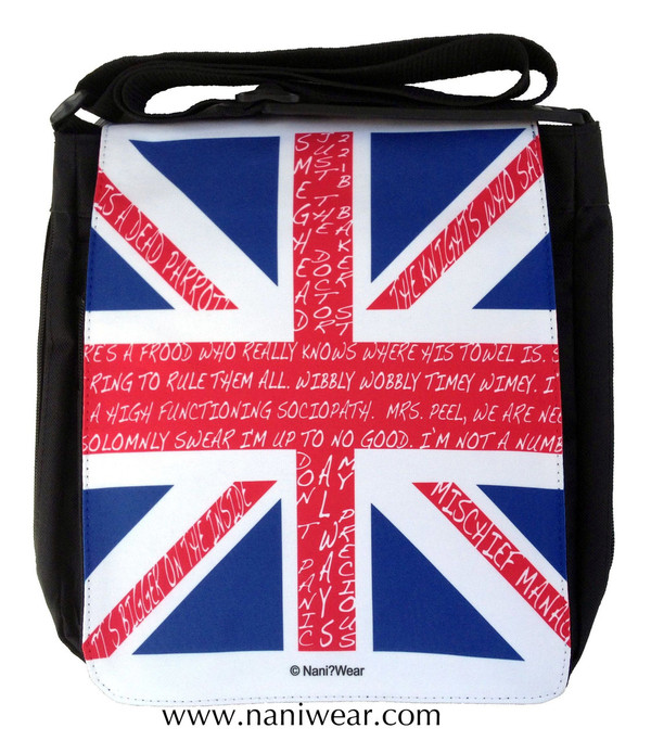 British Fandom Medium Messenger Bag: Union Jack
