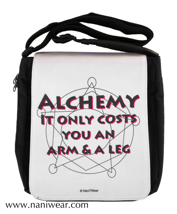 Fullmetal Alchemist Inspired Medium Messenger Bag: Alchemy