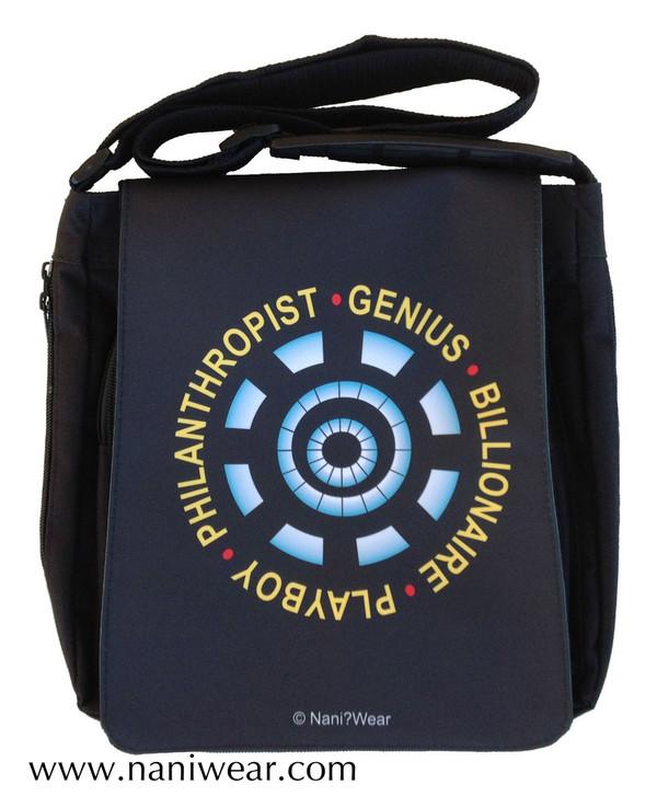 Iron Man Inspired Medium Messenger Bag: Genius Billionaire