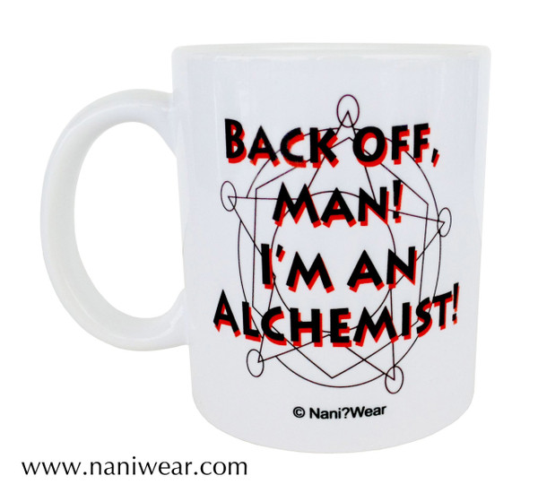 Fullmetal Alchemist Inspired Double-sided Mug: Alchemy-Back Off