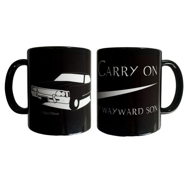 Supernatural Inspired Double-sided Mug Carry On Wayward Son