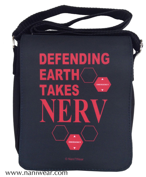 Evangelion Inspired Small Messenger Bag: Defending Earth takes NERV