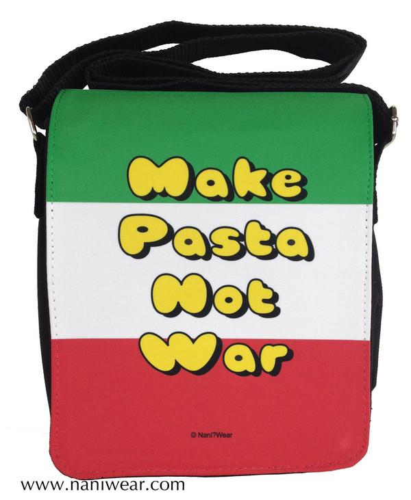 Hetalia Inspired Small Messenger Bag: Make Pasta Not War