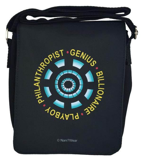 Iron Man Inspired Small Messenger Bag: Genius Billionaire