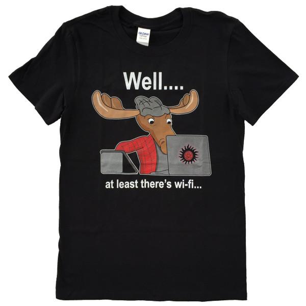 Supernatural Sam Winchester Moose Wifi Geek T-Shirt