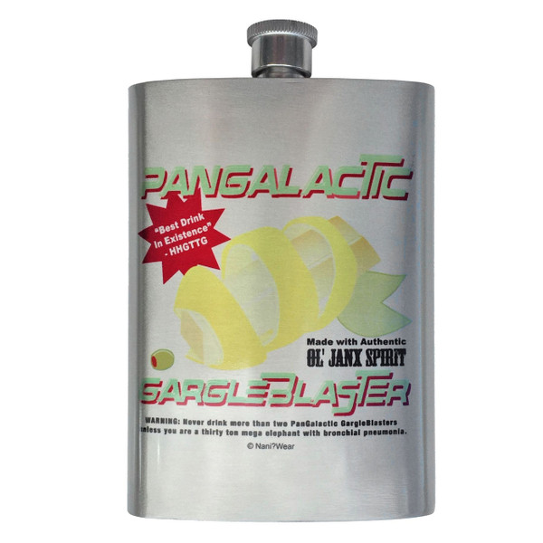 Hitchhikers Guide to the Galaxy Flask Pangalactic Gargle Blaster