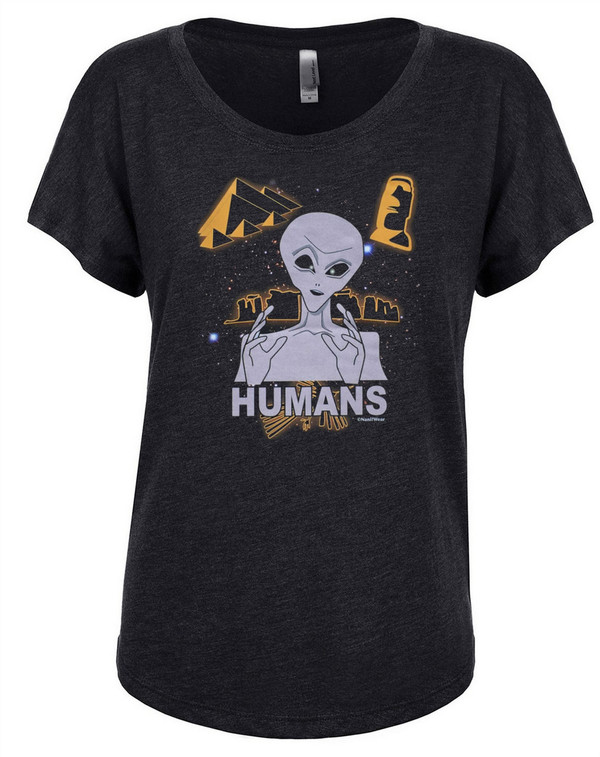 Ancient Aliens Women's Dolman T-Shirt Humans