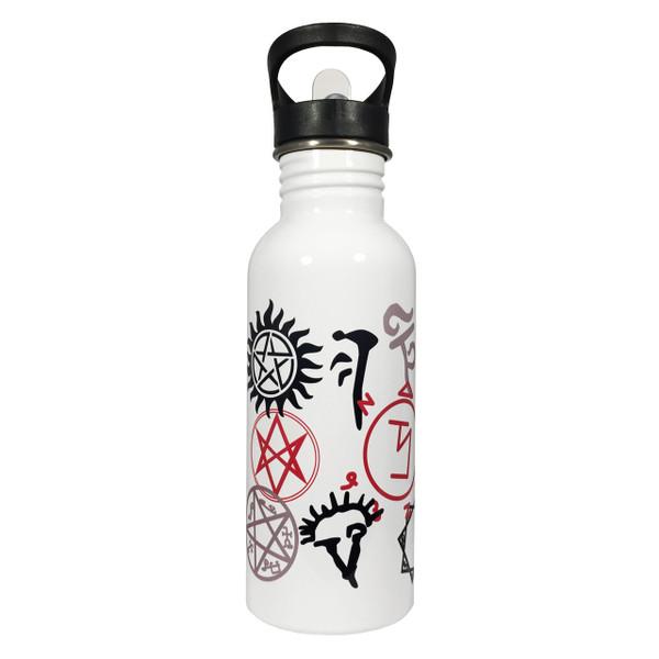 Supernatural Symbols 20oz Stainless Steel Water Bottle