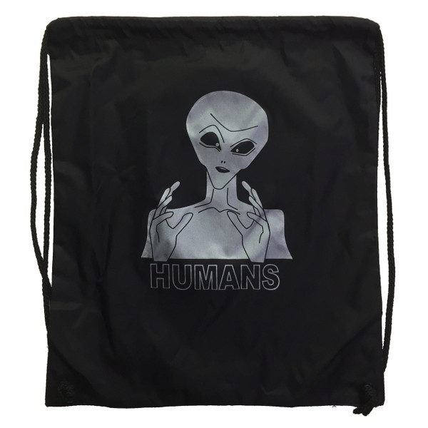 Ancient Aliens Nylon Drawstring Backpack Humans