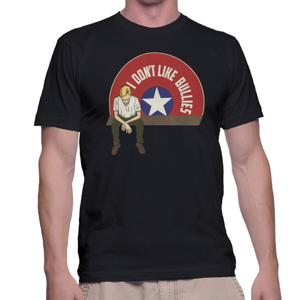 Captain America Geek T-Shirt I Don't Like Bullies Classic