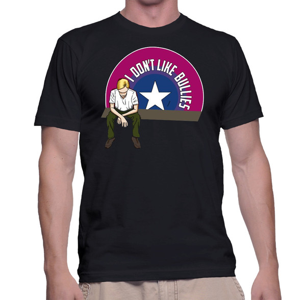 Captain America Geek T-Shirt I Don't Like Bullies Bisexual Pride