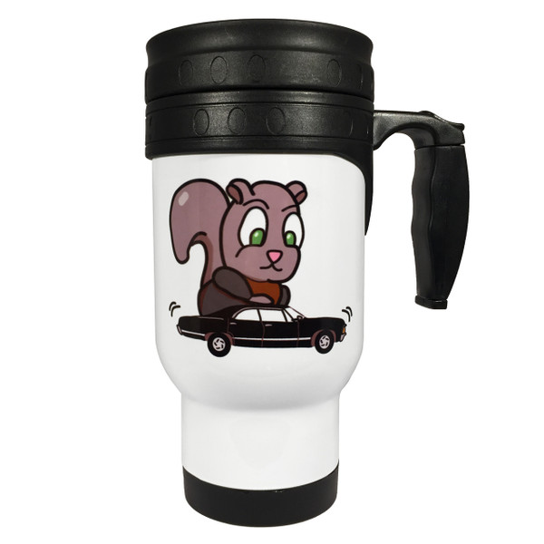 Supernatural Moose and Squirrel Double-Sided 14oz Stainless Steel Travel Mug